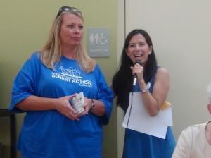 MSAC Staff members Pam Edwards & Anna Tse