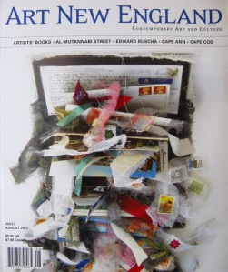 Stephanie Mahan Stigliano Looking Backward Altered Book Closed: 12x8x3.5 Al-Mutanabbi Street Starts Here