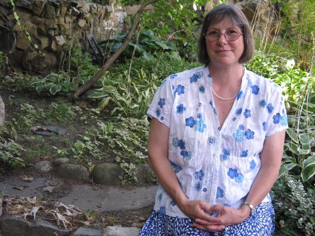 Stephanie Mahan Stigliano In her garden