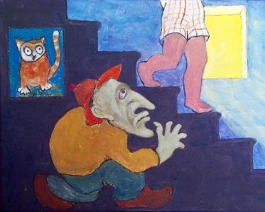 "Lisa Tiemann, ""Gnome."" Acrylic"