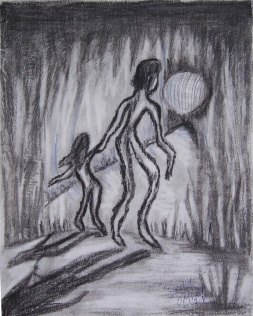 "Samia Omran, ""Hope."" Pencil, 18 x 14"