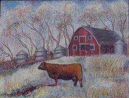 """Joe Sardaro, """"Promenade."""" Pastels, 29 x 25"""