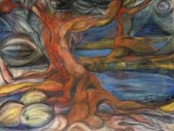 """Susan Langan, """"Forest Sentinels."""" Pastels, 24 x 30"""