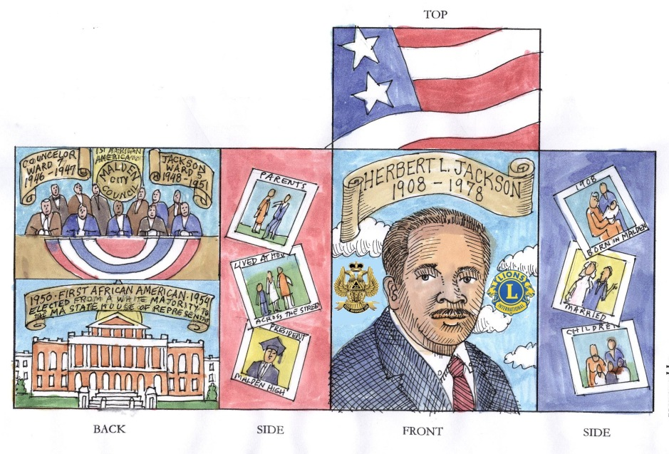 Martin Boyle's design proposal for switch box commemorating Herbert L. Jackson