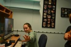 Shannon Bellofatto in the edit room