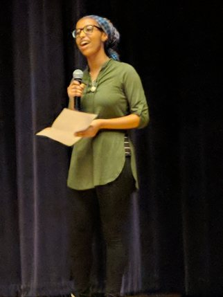 "Birukti Tsige recites the poem ""Still I Rise"" by Maya Angelou"
