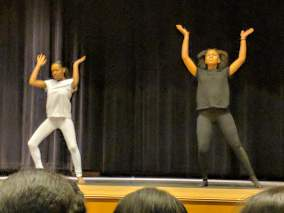 "Gerdley Cadet and Christina Charles perform their original ""Anti Oppression Dance."""