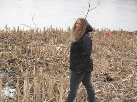 Naomi Kahn enjoying her duck walk at Little Creek.