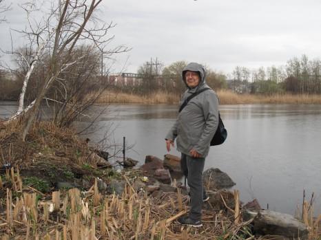 Jaime Warton of Malden after seeing a Kingfisher