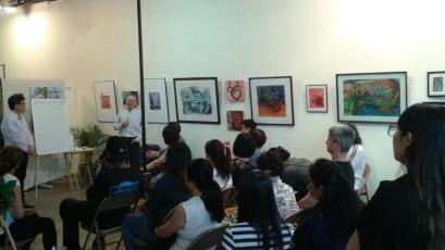 Fengshui introduction with Master Zhengde Lin (right), held June 1, 2018 at The Gallery as part of the East Meets West Dialogue Series hosted by the Chinese Culture Connection.