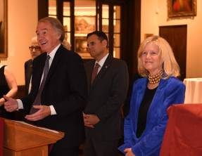 U. S. Representative Ed Markey speaking at the event. (Photo by Paul Hammersley, 3MG)