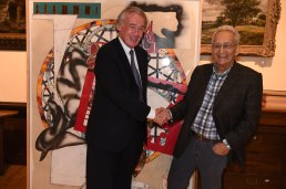 U. S. Representative Ed Markey with Frank Stella (Photo by Paul Hammersley, 3MG)