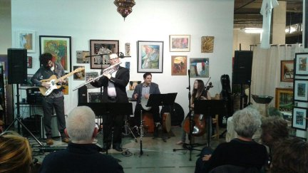 Astronauts of Albanian, an Albanian folk-jazz group performs at The Gallery.