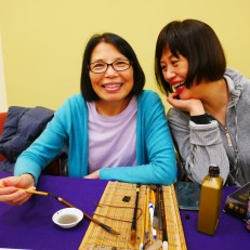 Mei Hung (left) and representative from the Chinese Culture Connection. Photo by Susan Margot Ecker