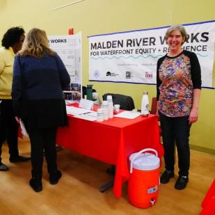 Karen Buck from Friends of the Malden River. Photo by Susan Margot Ecker
